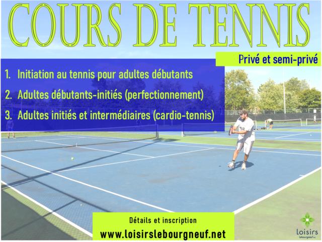 Cours de tennis privé et en gorupe